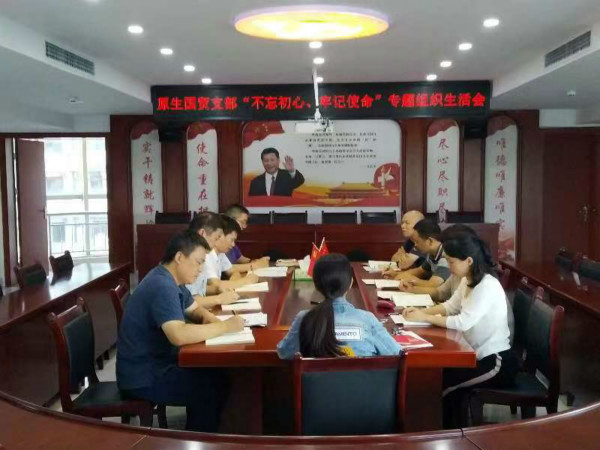 原生国贸支部开展专题组织生活及民主评议党员